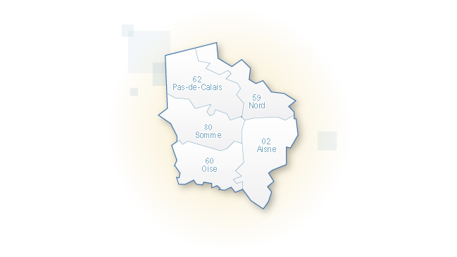carte de la région Hauts-de-France